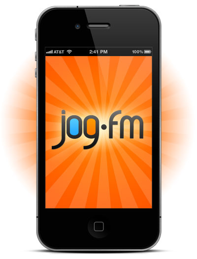 The jog.fm iPhone app.
